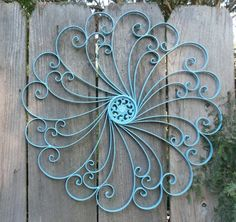 Large Wrought Iron Wall decor / Metal Wall decor by Theshabbyshak, $44.99