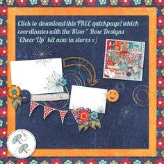 Cheer Up quick page freebie from River Rose #scrapbook #digiscrap #scrapbooking #digifree #scrap