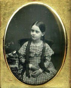 Young Victorian with Braids. #Victorian #19th Century #Victorian girl