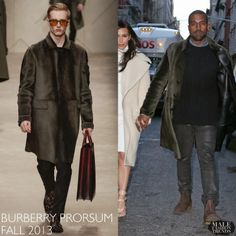 Kanye West en Burberry Prorsum - Lunch In New York City | Male Fashion Trends