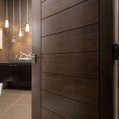 Bedroom Closet Doors Wood 43 Ideas For 2019 Flush Door Design, Door Design Interior, Main Door Design, Interior Barn Doors, Bedroom Door Design, Interior Modern, Home Design, Design Ideas, Modern Wood Doors