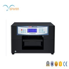 A4 size dark T shirt Flatbed printer direct to Textile printing machine with Acro Rip software