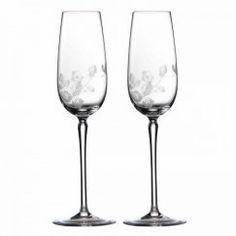 Wild Strawberry Sklo - Set dvou sklenic šampaňské 25 cm