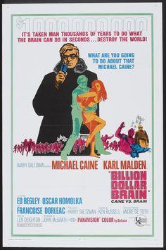 Billion Dollar Brain (1967) Stars: Michael Caine, Karl Malden, Ed Begley, Françoise Dorléac, Guy Doleman ~ Director: Ken Russell