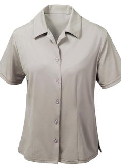 cd27a26135ae All USA Clothing Brand, American Made Ladies' Moisture Dry Camp Shirt  Lightweight, breathable