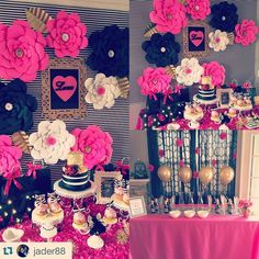 """305 Likes, 23 Comments - Couture Backdrops (@couturebackdrops) on Instagram: """"#TBT to this fabulous Kate Spade themed Bridal Shower!! my all time favorite!  #backdrop…"""""""