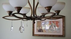 Magnetic crystals set of 3 living room redesign pinterest chandelier with magnetic crystal light charms aloadofball Image collections