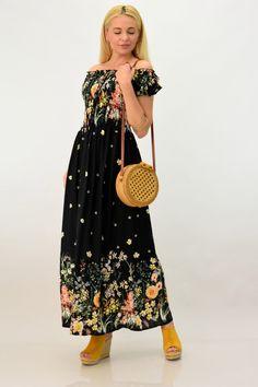 Μακρύ φόρεμα φλοράλ | POTRE Sequin Skirt, Sequins, Summer Dresses, Floral, Skirts, Shoes, Fashion, Moda, Zapatos