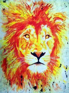 Tempera and Wax Batik Animals - Conway High School Art Project