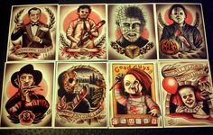 Monster Series 2 5.5x7 by ParlorTattooPrints on Etsy
