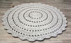 Crochet rug crocheted rug by TwoLands on Etsy