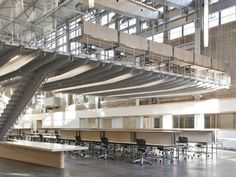 Caper multipurpose chairs provide students to study at Georgia Institute of Technology's Hinman Research Building. Photo: Jonathan Hillyer, Architect magazine