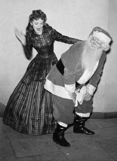 Ida Lupino spanking Santa. I don't know why this ever happened, but it's hilarious.