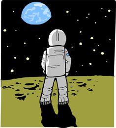 astronaut on moon clipart - Google Search