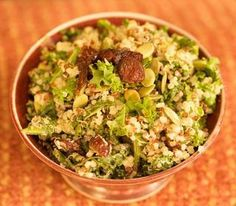 Kale, Quinoa, Cranberry Salad Recipe - #superfoods