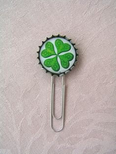 One Clover bookmark with Celtic motifs...
