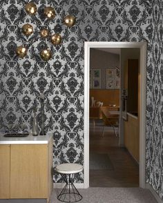 Temporary Wallpaper - Silver Damsel from Dormify. Saved to new room. Shop more products from Dormify on Wanelo. Silver Wallpaper, Damask Wallpaper, Adhesive Wallpaper, Wallpaper Samples, Easy Wallpaper, Normal Wallpaper, Bathroom Wallpaper, Wallpaper Ideas, Paper Wall Decor