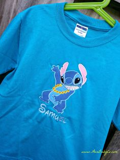 Disney Hula Stitch from Lilo and Stitch Inspired by AvaBabyCo, $18.00