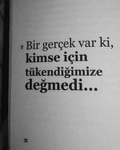 """4,545 Beğenme, 17 Yorum - Instagram'da Göğe Bakma Durağı (@gogebakmaduragiii): """"Kimse için tükendiğimize değmedi."""""""