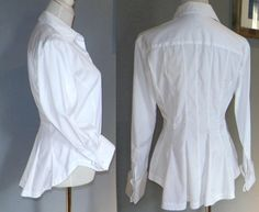Gianfranco FERRE peplum blouse w/ french cuffs by LuxLoveVintage