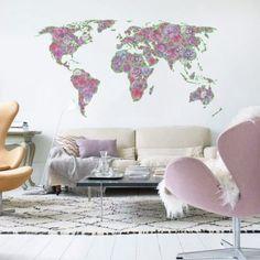 Adesivo de Parede Mapa Mundi Allegra