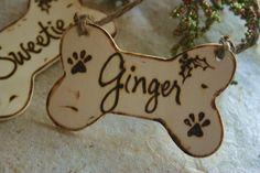Dog Bone Personalized Christmas Ornament by PrinceWhitaker on Etsy, $9.99