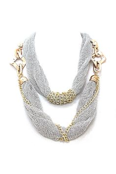 Mesh Riley Necklace in Silver on Emma Stine Limited