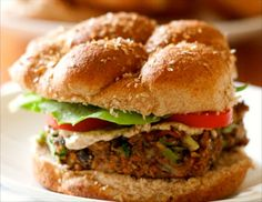 Quick and easy veggie burger - click for recipe!