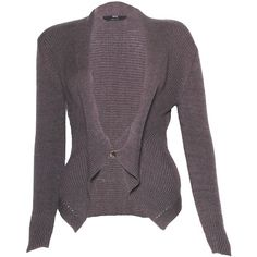 Pre-owned Hugo Boss Long Sleeve Cropped Cardigan ($67) ❤ liked on Polyvore featuring tops, cardigans, green, purple top, purple crop top, green cropped cardigan, cropped cardigan and v neck cardigan