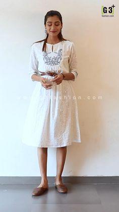 White A-line Kurti, style as an onepie, white Kurti with belt, Shop Online white kurti, white kurti, aline kurti designs, aline white kurti, white lakhnavi kurti, white kurti designs, white kurti designs cotton, white kurti with jeans, white kurti designs classy, white kurti designs indian, white kurti designs party wear, white kurti designs with jeans, white kurti with dupatta, plain white kurti with dupatta, white kurti with dupatta punjabi suits, white kurti designs chicken, white kurti, Latest Kurti Design LATEST KURTI DESIGN | IN.PINTEREST.COM #FASHION #EDUCRATSWEB