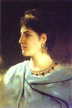 Portrait of a Roman Woman - Henryk Siemiradzki  1890