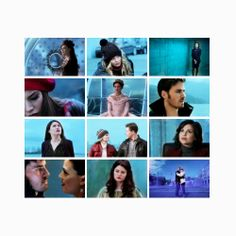 OUAT - Once upon a time - Blue - Emma Swan - David Nolan - Charming - Regina - Belle - Snow White - Hook