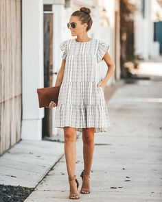 Just Adorable Cotton Pocketed Babydoll Dress Casual Fashion Trends, 2020 Fashion Trends, Spring Fashion Trends, Spring Summer Fashion, Fashion Outfits, 50 Fashion, Work Fashion, Latest Fashion, Winter Fashion