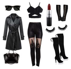 """""""Modern Vampire"""" by scifantasygeek on Polyvore featuring Neeya, Ray-Ban, Givenchy, MAC Cosmetics and modern"""