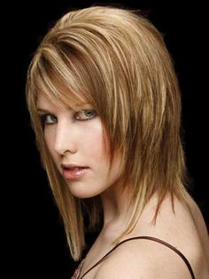 Image result for medium hairstyles for thick hair Choppy