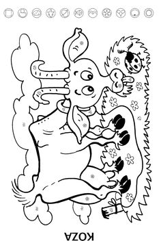 Koza Farm Animals, Animals And Pets, Sudoku, Coloring Pages, Embroidery Designs, Ms, Snoopy, Bird, Fictional Characters