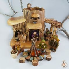 Large Casa del Sol for Gnomes and Wee folk by willodel on Etsy