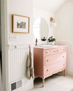 Pink Bathroom Vanity