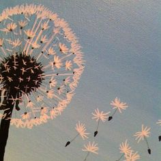 Dandelion Blue Sky - SOLD   Interested?  I can do another like this for you.  Just contact me at mandyterry@gmail.com