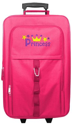 Kids Travel Zone Big Girls' Carry On With Princess Image In Pink *** Be sure to check out this awesome product.