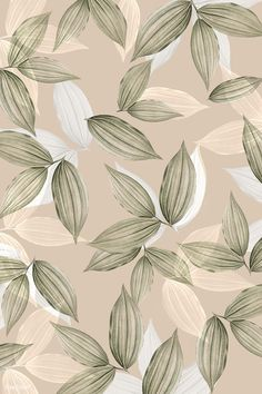 vintage beige tropical leafy background premium image by rawpixel com hwangmangjoo vector vect Aesthetic Backgrounds, Aesthetic Iphone Wallpaper, Aesthetic Wallpapers, Leaf Background, Iphone Background Wallpaper, Pattern Background, Iphone Background Vintage, Vintage Backgrounds, Background Decoration