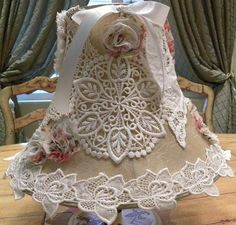 French/Shabby Chic/Floral/Romantic Lamp Shade by MozTreasures