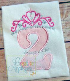 princess crown BIRTHDAY applique REPIN THIS then click here: www.creativeappliques.com $