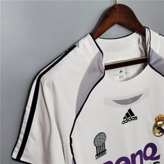 Retro Real Madrid Home Soccer Jersey 2006/2007 Men Adult RONALDO #9 ZIDANE #5 RAUL #7