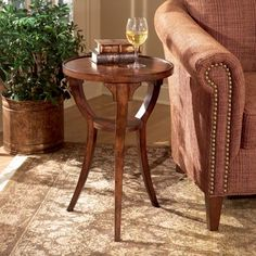 Butler Plantation Cherry Accent Table with Veneer Inlay