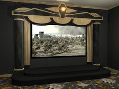 Home Theater Screen Curtains Google Search