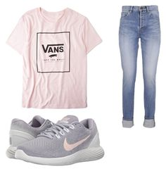 """Untitled #5"" by baileyking-1 on Polyvore featuring Yves Saint Laurent, Vans and NIKE"