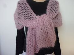 Shawl Patterns, Crochet Patterns, Couture, Knitting, Point Mousse, Tops, Fashion, Godmother Dress, Dots