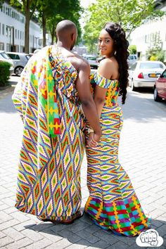 Hot Shots: Mr & Mrs Opoku's Amazing Kente Pre Wedding Pictures! | FashionGHANA.com: 100% African Fashion