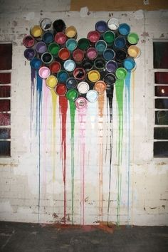 I love how this inspires me to create an artwork with all my left-over paint tins.